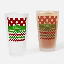 Red Green Christmas Drinking Glass