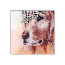 """Crimson Canine Square Sticker 3"""" x 3"""""""