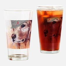 Crimson Canine Drinking Glass