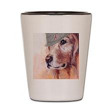 Crimson Canine Shot Glass