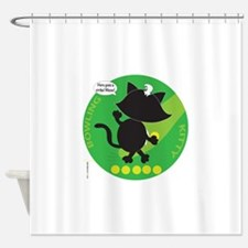 BOWLING KITTY Shower Curtain