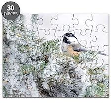 Winter Black-capped Chickadee Puzzle