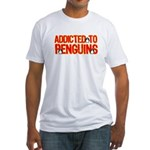 Addicted to Penguins Fitted T-Shirt