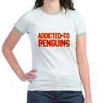 Addicted to Penguins Jr. Ringer T-Shirt