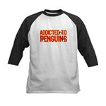 Addicted to Penguins Kids Baseball Jersey