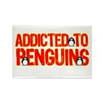 Addicted to Penguins Rectangle Magnet
