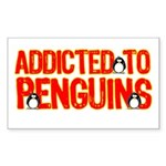 Addicted to Penguins Rectangle Sticker