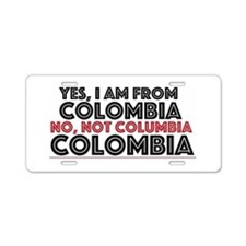 Yes, I Am From Colombia Aluminum License Plate