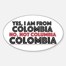 Yes, I Am From Colombia Decal