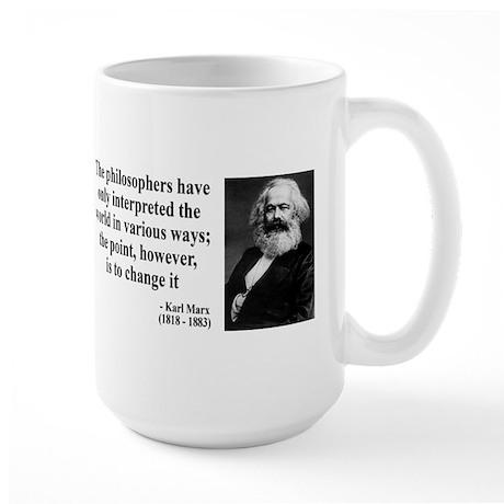 Karl Marx Quote 5 Large Mug