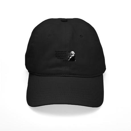 Karl Marx Quote 5 Black Cap