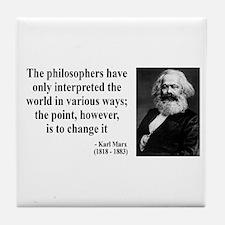 Karl Marx Quote 5 Tile Coaster