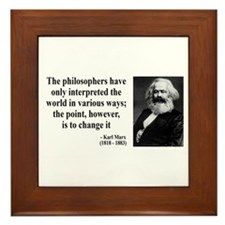 Karl Marx Quote 5 Framed Tile