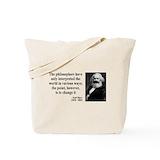 Karl marx Canvas Bags