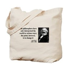 Karl Marx Quote 5 Tote Bag