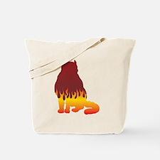 Curl Flames Tote Bag