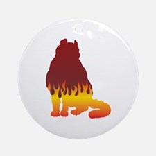 Curl Flames Ornament (Round)