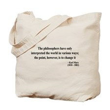 Karl Marx Text 5 Tote Bag