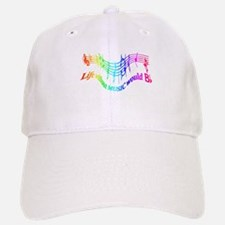 Without Music Life would be flat Humor Quote Hat