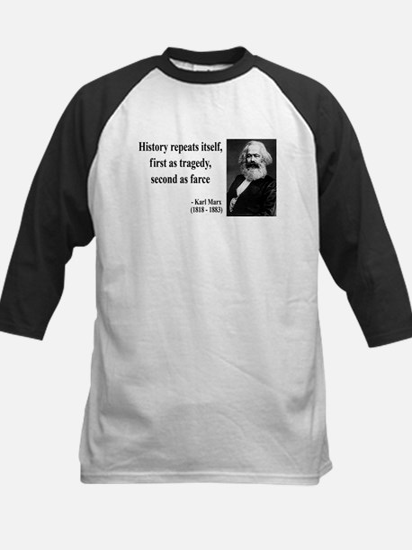 Karl Marx Quote 6 Kids Baseball Jersey