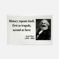 Karl Marx Quote 6 Rectangle Magnet