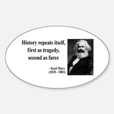 Karl Marx Quote 6 Oval Decal