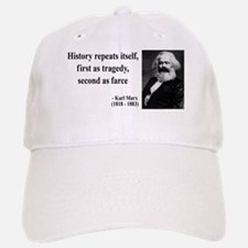 Karl Marx Quote 6 Baseball Baseball Cap