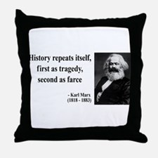 Karl Marx Quote 6 Throw Pillow