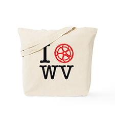 I Bike WV Tote Bag