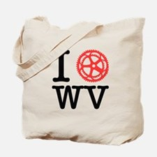 I Bike WV Tote Bag