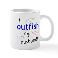 """I Outfish My Husband"" Mug"
