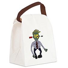 Zombie Businessman Canvas Lunch Bag