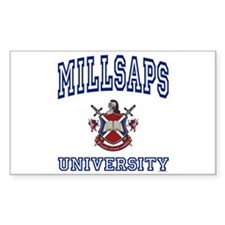 MILLSAPS University Rectangle Decal