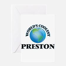 World's Coolest Preston Greeting Cards