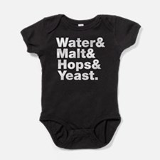 Beer | Water & Malt & Hops & Yeast. Baby Bodysuit