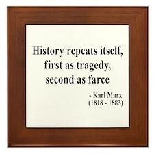 Karl Marx Text 6 Framed Tile