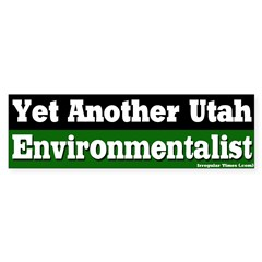 Utah Environmentalist Bumper Bumper Sticker