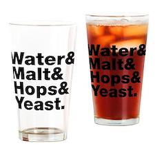 Beer | Water & Malt & Hops & Yeast. Drinking Glass