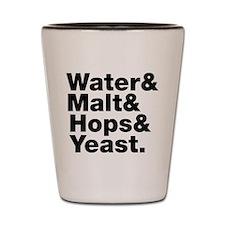 Beer | Water & Malt & Hops & Yeast. Shot Glass