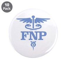 """Family Nurse Practitioner 3.5"""" Button (10 pack)"""