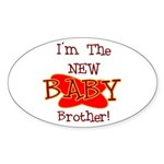 New Baby Brother Oval Sticker
