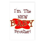 New Baby Brother Postcards (Package of 8)