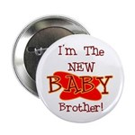 New Baby Brother Button