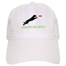 Labrador Dog Red Disc Baseball Cap