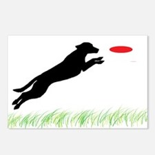 Labrador Dog Red Disc Postcards (Package of 8)
