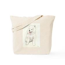 Samoyed Puppy Tote Bag