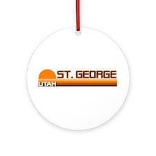 St. George, Utah Ornament (Round)