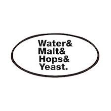 Beer | Water & Malt & Hops & Yeast. Patches