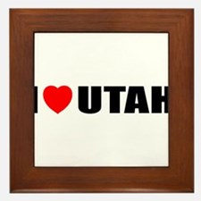 I Love Utah Framed Tile