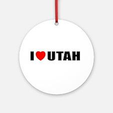 I Love Utah Ornament (Round)